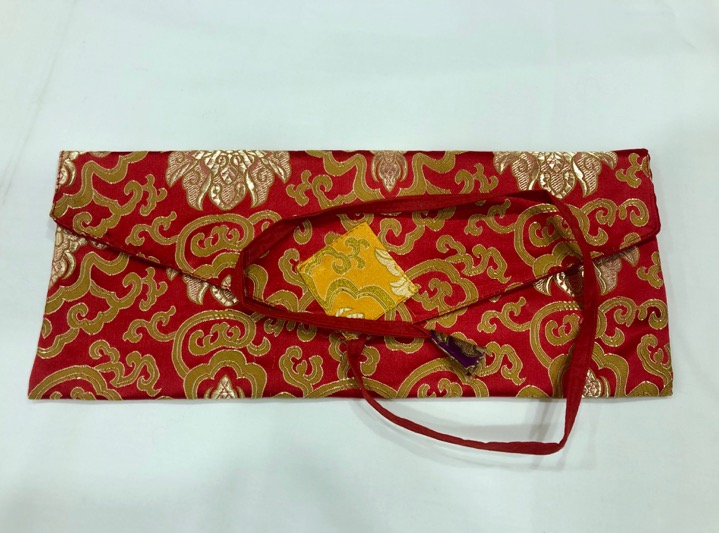 Tibetan Long Red Dharma Book Cover/text Cover