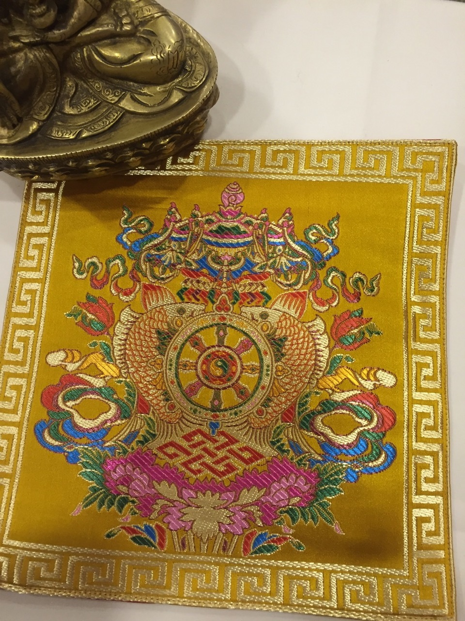 Tibetan Auspicious Symbol Placemat /Table Cover