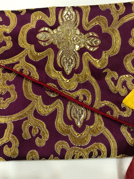 Tibetan Long Maroon Dharma Book Cover/text Cover