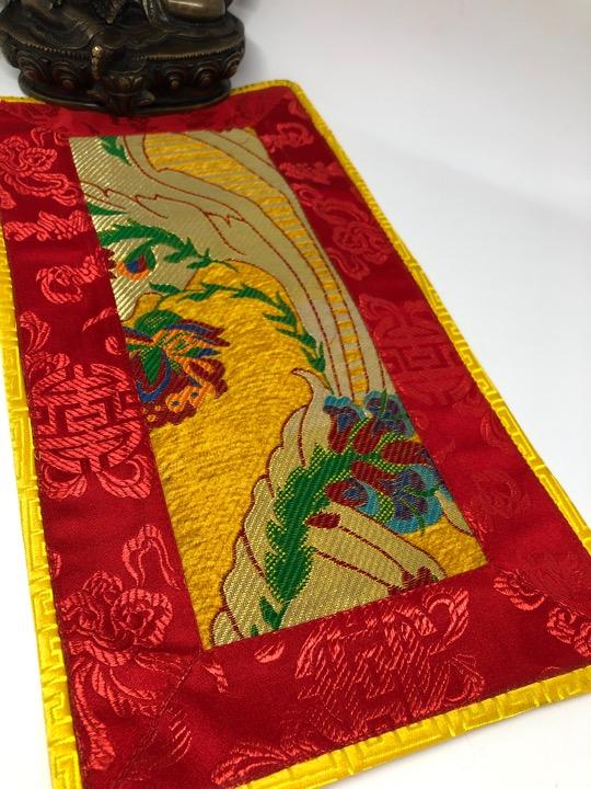 Tibetan Thick Brocade Flower Design Placemat