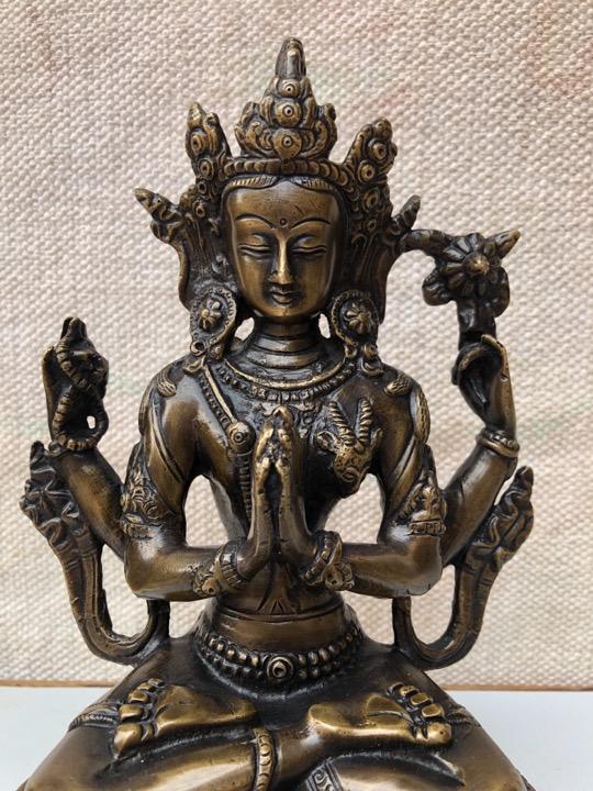 Nepalese Buddhist Chenrezig/Avalokiteshvara Statue