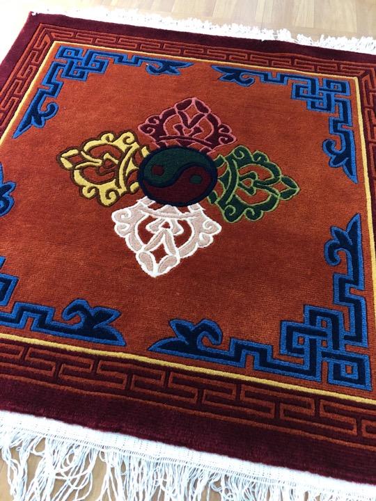 Tibetan Dorji 100 Knot Meditation Carpet / Rug