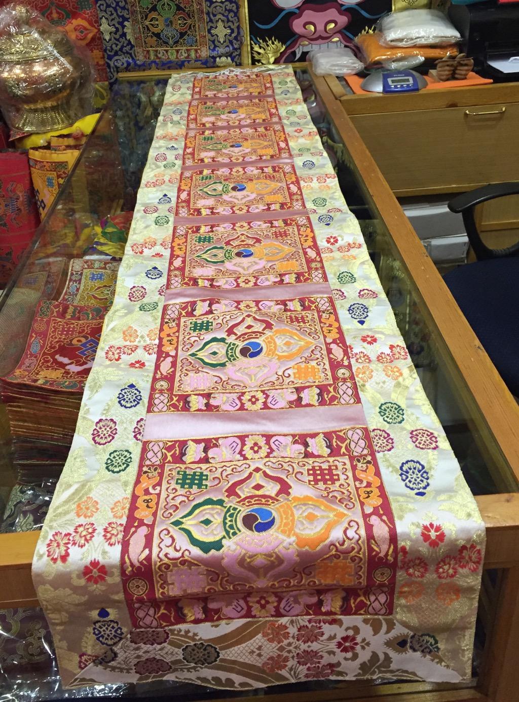 Tibetan Double Dorje Large Table Runner/cover