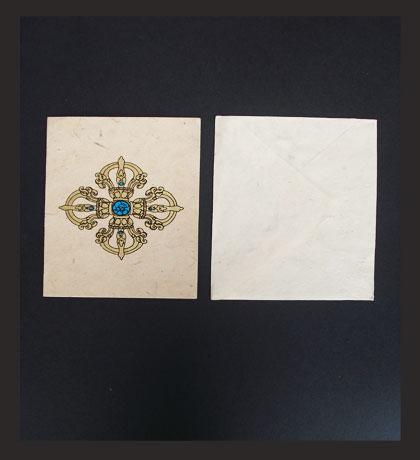 Double Dorjee Lokta Paper Greeting Card