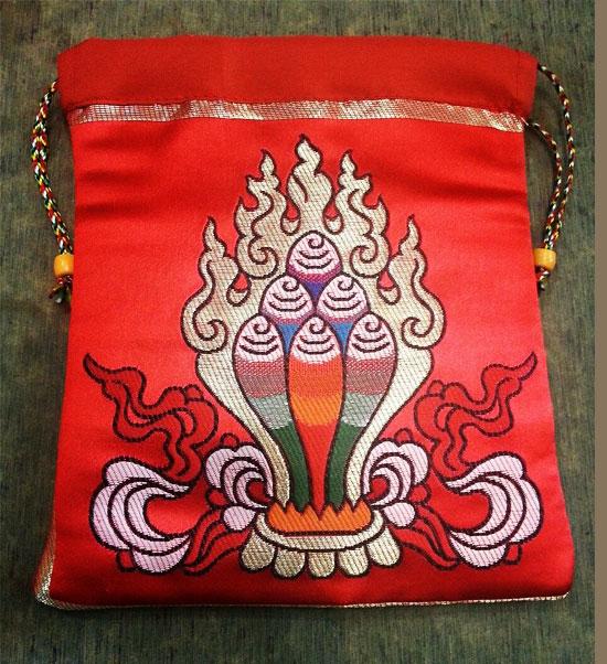 Tibetan Norbu Silk Brocade Mala Bag /mala Pouch