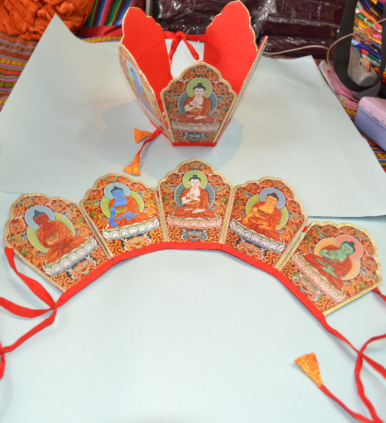 Tibetan Buddhism Five Point Crown / Ringa